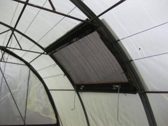 Вентеляційна фіртка в теплиці