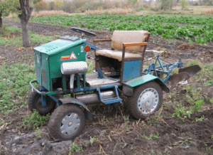 Фото саморобного трактора з мотоблока