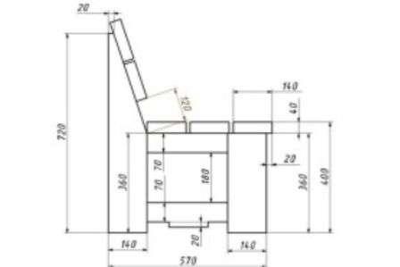 проект лави для дачі, яку можна виготовити самостійно і своїми руками.