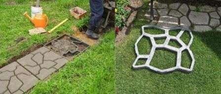 Як зробити плитку для садових доріжок своїми руками