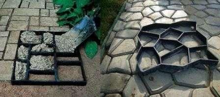Робимо тротуарну плитку для садової доріжки на дачу