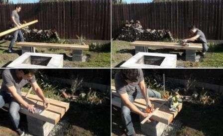 Садова лавка своїми руками для дачі,як зробити