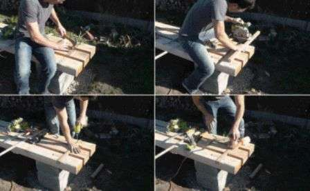 лавка для саду своїми руками фото