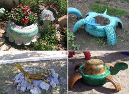 Черепахи з автошини фото