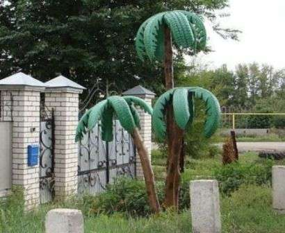 Пальма з покришок