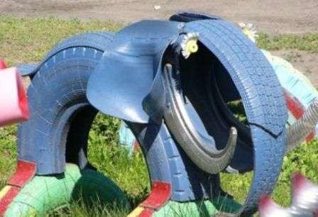 Слони з шин