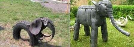 Слони з шин фото