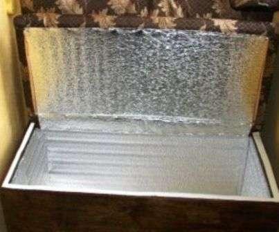 Ящик для зберігання картоплі з додатковим підігрівом