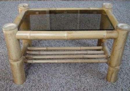 Журнальний столик зі скла і бамбука своїми руками