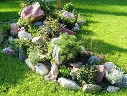 Підбір каменів для альпійської гірки своїми руками