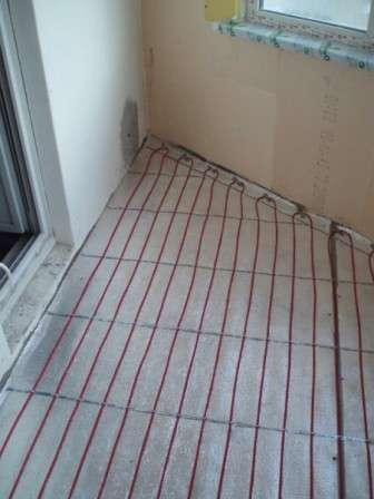 Укладання «теплої підлоги» при утепленні лоджій своїми руками фото