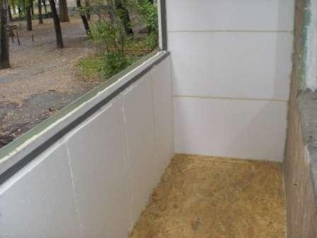Приклад застосування пінопласту при утепленні лоджій в панельному будинку фото
