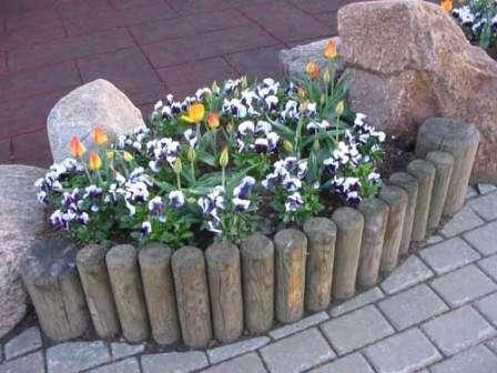 Клумби з квітами на дачі своїми руками, фото