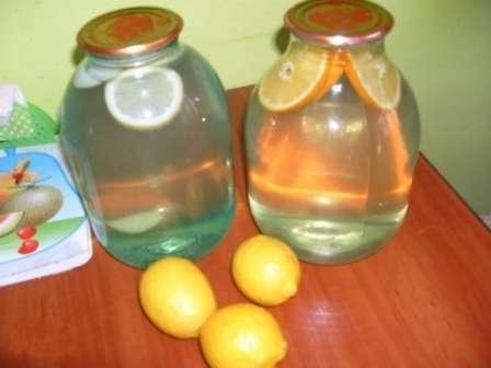 Березовий сік з апельсином та лимоном