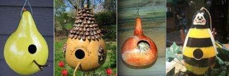Гарбузовий будиночок - шпаківня для птахів