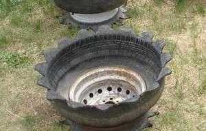 Клумба з шини