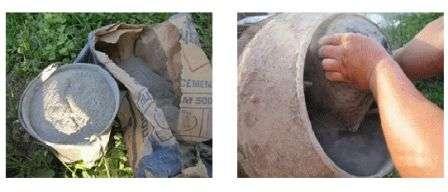 Готуємо цементний розчин для садової доріжки