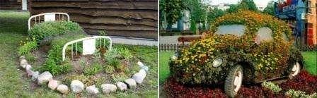 клумби +для саду своїми руками фото