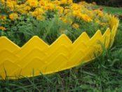 Декоративний та садовий бордюр для клумб, квітників своїми руками