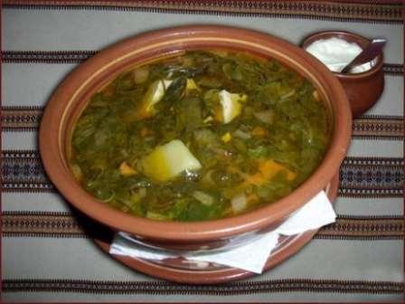 Зелений борщ з щавлем рецепт з фото
