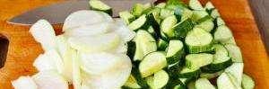 Етапи приготування салату з огірків: