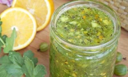 Варення з агрусу з лимоном на зиму