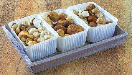 Замороження відварених грибів