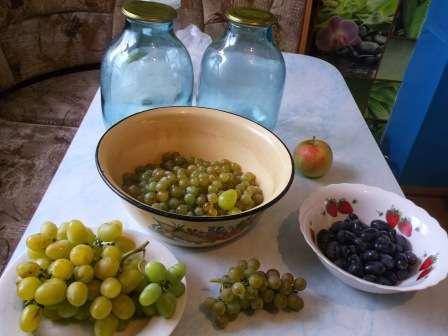 Рецепти приготування компоту з винограду на зиму: