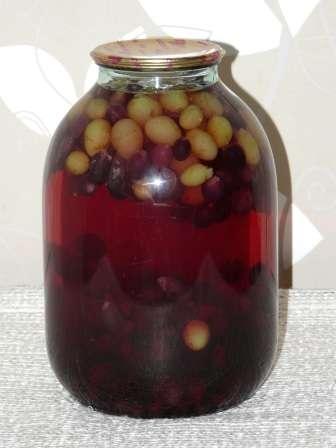 Компот з винограду без стерилізації