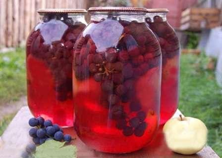 Рецепт приготування компоту з винограду