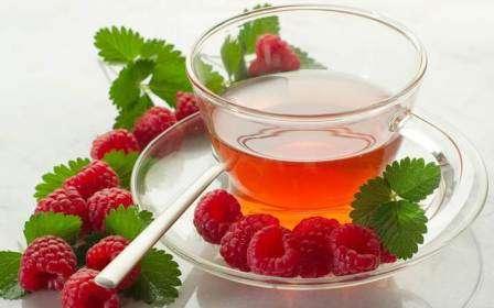 Чай із засушеного листя малини