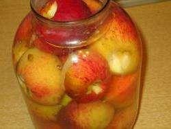 Як закрутити компот із яблук на зиму