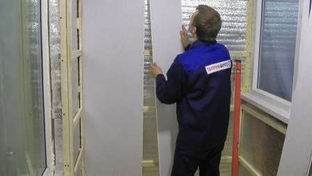 Після монтажу утеплювача приступають до фінішної обробки балкона