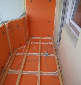 Утеплення стін і підлоги балкона екструдованим пінополістиролом