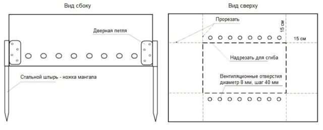 Конструкція розбірного мангала