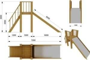 Схема дерев'яної гірки