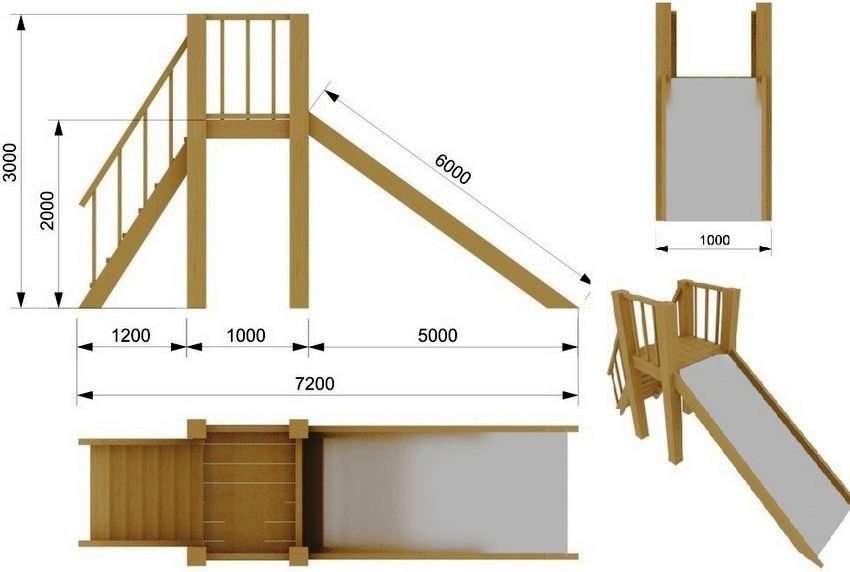 Как построить детскую деревянную горку своими руками 89