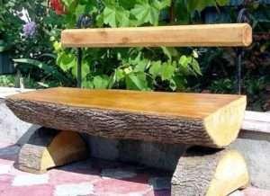 Садова лавка з колод