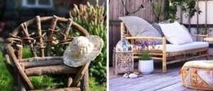 Різні варіанти дерев'яних лавок