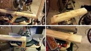 Порядок виготовлення простої дерев'яної лавки