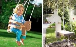 дитячі гойдалки з дерева