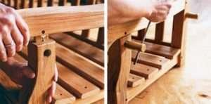 Дерев'яна гойдалка-лава, крок 5