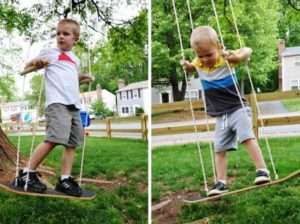 Дитячі гойдалки з скейтборду
