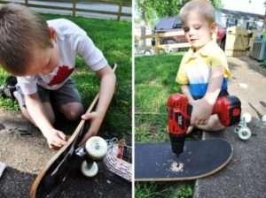Дитячі гойдалки з скейтборду, крок 2