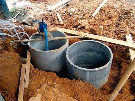Процес будівництва септика з бетонних кілець