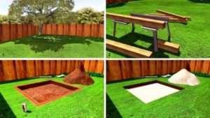 Покрокова інструкція з будівництва пісочниці