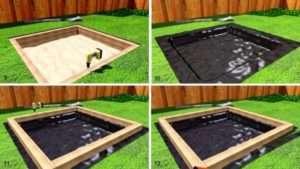 Покрокова інструкція з будівництва пісочниці:
