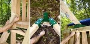 будівництво деревяного дитячого майданчика