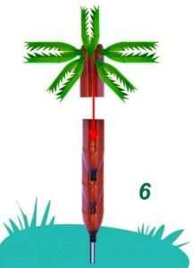 Виготовлення пальми з пластикових пляшок.