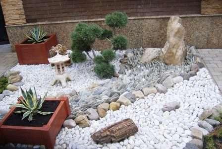 як зробити клумбу з каміння